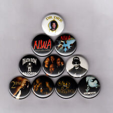 """DEATH ROW RECORDS / NWA  1"""" PINS BUTTONS (snoop ice cube 2pac shirt poster print"""