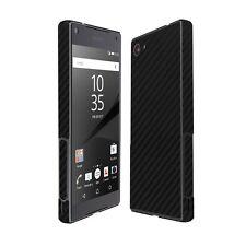 Skinomi Black Carbon Fiber Skin+Screen Protector for Sony Xperia Z5 Compact