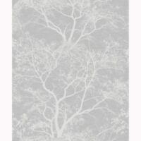 Chuchotant Arbres Paillette Papier Peint Gris / Argent - holden 65401 Sparkle