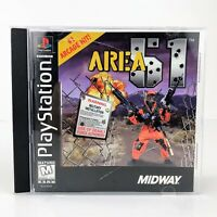 AREA 51 (Sony PlayStation 1, 1996) Complete PS1 Black Label Video Game