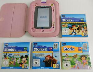 Vtech Storio 2 - Lern Tablet für Kinder + Hülle - Rosa + 4 Spiele !