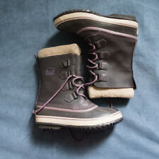 Sorel Womens Winter Insulated Purple Boots Size 7