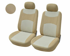2 Front Bucket Fabric Car Seat Cover Compatible To Saturn 160 Tan