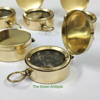 Brass Lid Compass Lot Of 50 Nautical Maritime Collectible