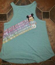 "Disney Tsum Tsum Aqua Swing Tank Top Small 6 Minnie Dumbo Daisy ""Totes Adorbs"""