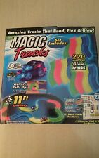 220 pcs magic track glow in the dark, LED light up race car bend flex ad seen