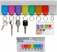 Schlüsselbrett mit 8 Schlüsselanhänger beschriftbar + Schilder zum Beschriften