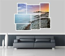 Huge Collage View Red Sky Lake Wall Stickers Film Mural Wallpaper 11