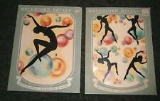 Nude silhouette Art Deco lady dancing in bubbles vintage Meyercord decals WOW