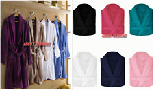 Unisex 100% Cotton Terry Towelling Bath Robe Dressing Gown Hooded Shawl