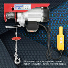 1320 Lbs Electric Cable Hoist Crane Lift Garage Auto Shop Winch With Remote