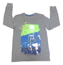 Cat & Jack XLarge 16 Grey Huddle Up Glow In Dark Crew Neck Long Sleeve Shirt NEW