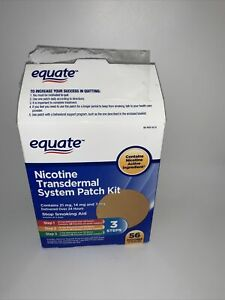 Equate Nicotine Transdermal System 53 Patch ONLY Complete 3-Step Kit
