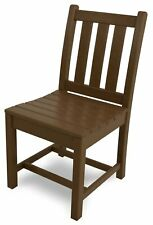 POLYWOOD TGD100TE Traditional Garden Dining Side Chair Teak