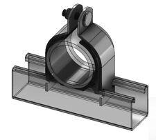 New listing 072N080Eg Cushion Clamp Strut Mount, Pipe Size 4, 4-1/2 tube, Eg Steel