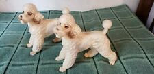 """Large 5 3/4"""" Mid Century PAIR POODLES made Japan Great Condition"""