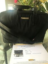 $1600 Gucci Business Black Laptop Briefcase Bag Certificate Of Authenticity