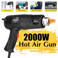 2000W Heat Gun Hot Air Gun Adjustable Temperature Tool Paint Stripper 110V/220V