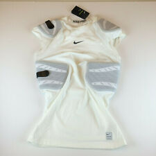 Nike Pro Hyperstrong 4-Pad Football Sleeveless Top Shirt 838431-100 White Men L
