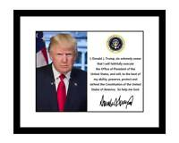 Donald Trump Signed 8x10 Photo Print Presidential Oath of Office Inauguration