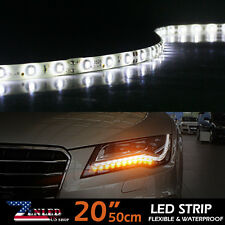 """4x White 20"""" LED Strip Lights Car Boat Camping DRL Interior Tail Light Decors"""