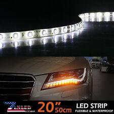 White 4x 20inch LED Car Motors Truck Soft Bright Strip Light Waterproof 12V 3528