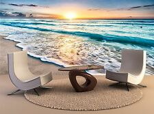 Beautiful Sunrise over beach Photo Wallpaper Print 3D Decal Wall Mural Home
