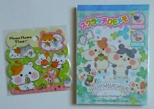 Qlia Crux Q-lia Japan Kawaii Large Memo Pad sticker sack Hamu Hamu Hamster lot