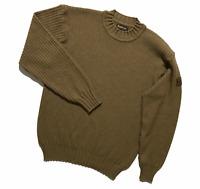 BARBOUR Men's Sweater Jumper 100% Wool Light brown Size L