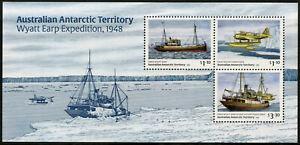 AAT Aus Antarctic Ships Stamps 2020 MNH Wyatt Earp Expedition Aircraft 3v M/S