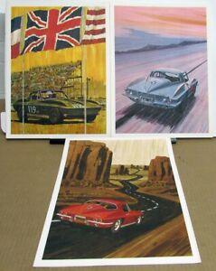 1967 Chevrolet Poster Set Of 3 George Bertels Corvette Prints Original Rare GM
