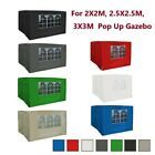 Side Panels for Pop Up Gazebo Outdoor Garden Marquee Party Wedding Tent 7Colors