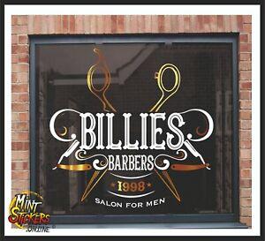 Barber Shop Window Sticker Sign Decal Salon Hairdresser Personalisation