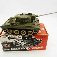 Vintage REMCO U.S. Army Light Bulldog Tank Toy with box no missles
