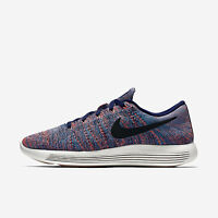 Men's Nike Lunarepic Low Flyknit Sz 10 Blue/Black 843764-400 FREE SHIPPING