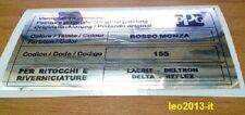 Lancia delta hf integrale 16 valvole evo 1-2 adesivo colore ppg rosso monza 155