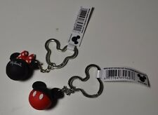 NEW Disney - Mickey & Minnie Mouse icon soft touch Head Ears Keychain/Keyring