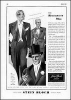 1935 Stein Bloch men's clothing Tailor New York City vintage art Print Ad  adL42