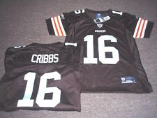 WOMENS REEBOK NFL PREMIER CLEVELAND BROWNS JOSH CRIBBS JERSEY SIZE S SEWN