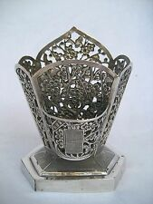 CHINESE EXPORT SOLID SILVER TABLE VESTA - Wang Hing & Co.