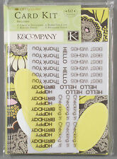"""Amy Butler Card Kit """"Lotus Olive Lacework"""" from K & Company - Happy Birthday"""