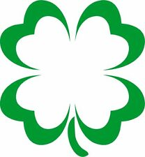 Irish 4 Leaf Clover Heart Leaves Green Vinyl Car Window Sticker Bumper Computer