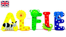 Jungle Animal uppercase wooden letters superb for doors walls and furniture