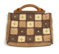 Nine West Womens Handbag Large Purse Bag Vintage 90s Leather Beaded Boho