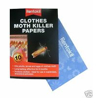 Rentokil Clothes Moth Paper Strips for Stored Clothes & Drawers Pack of 10 FA115