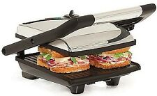 Bella 1400 Watt PANINI Maker / Grill / Griddle / Press  Model YDE-811 Black NEW