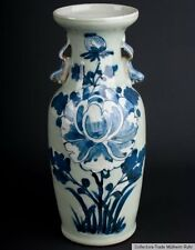Cina 20.. JH Blu Bianco-A Chinese Blue & White colonnine vaso-cinese chinois