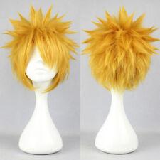 Naruto Uzumaki Short Golden Blonde Wig Bleach Ichigo Kurosaki Cosplay Hair Wigs
