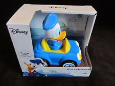 Disney Donald Duck Push and Go Racer Car ~Press Donald Down & Watch It Go! ~NEW