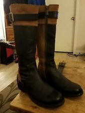 London Underground Womens Knee High Boots Size 6M Leather and Suede